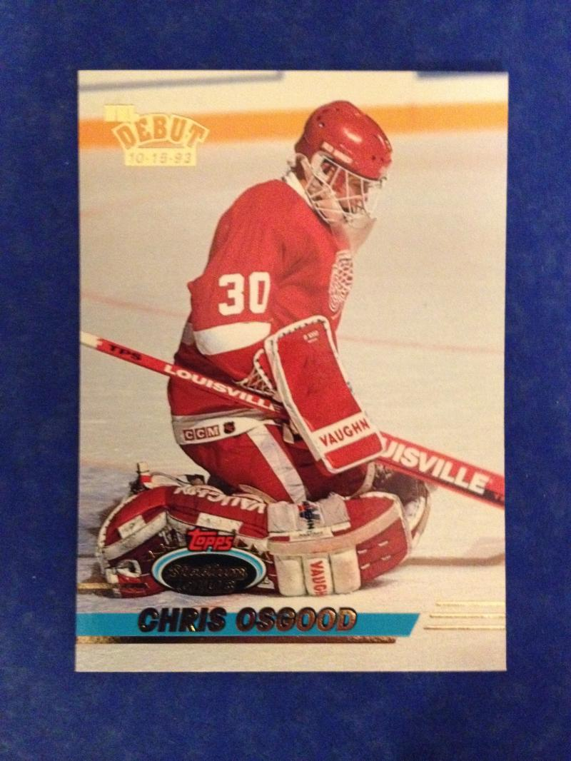 1993/94 Stadium Club  #350 Chris Osgood RC