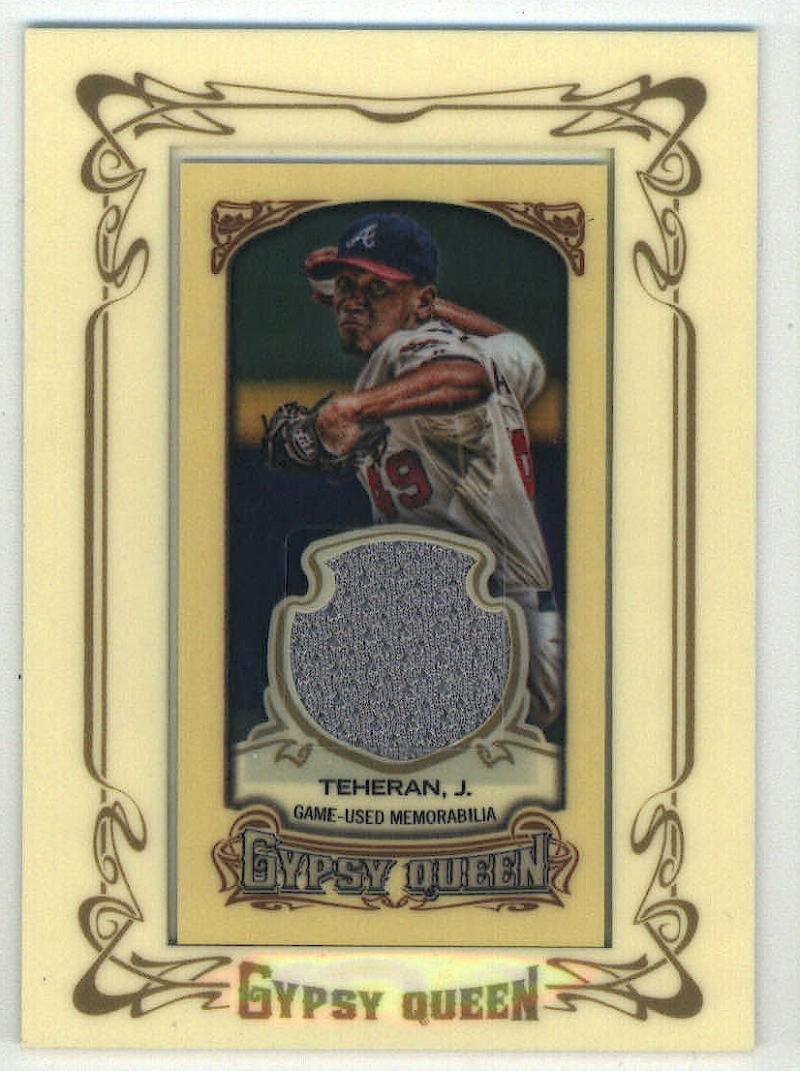 2014 Gypsy Queen Mini Relic Cards #GMR-JT Julio Teheran   Game Used