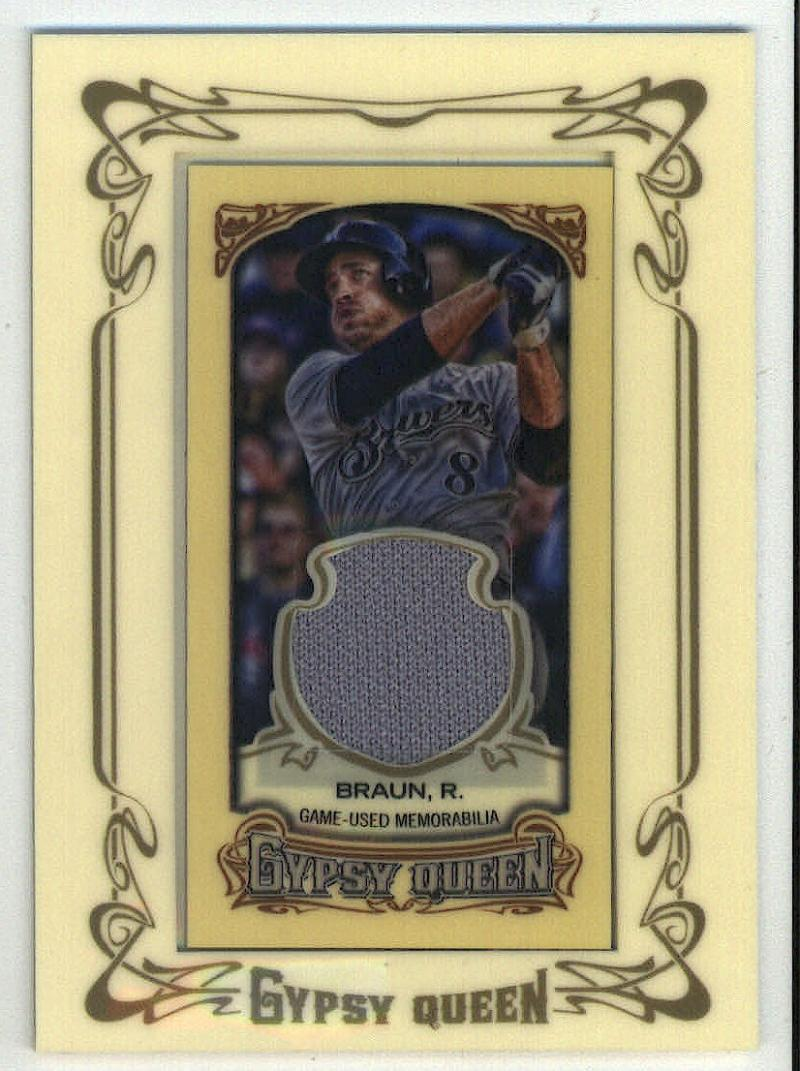 2014 Gypsy Queen Mini Relic Cards #GMR-RB Ryan Braun   Game Used