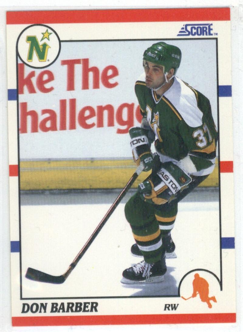 1990-91 Score #284 Don Barber ROOKIE CARD North Stars