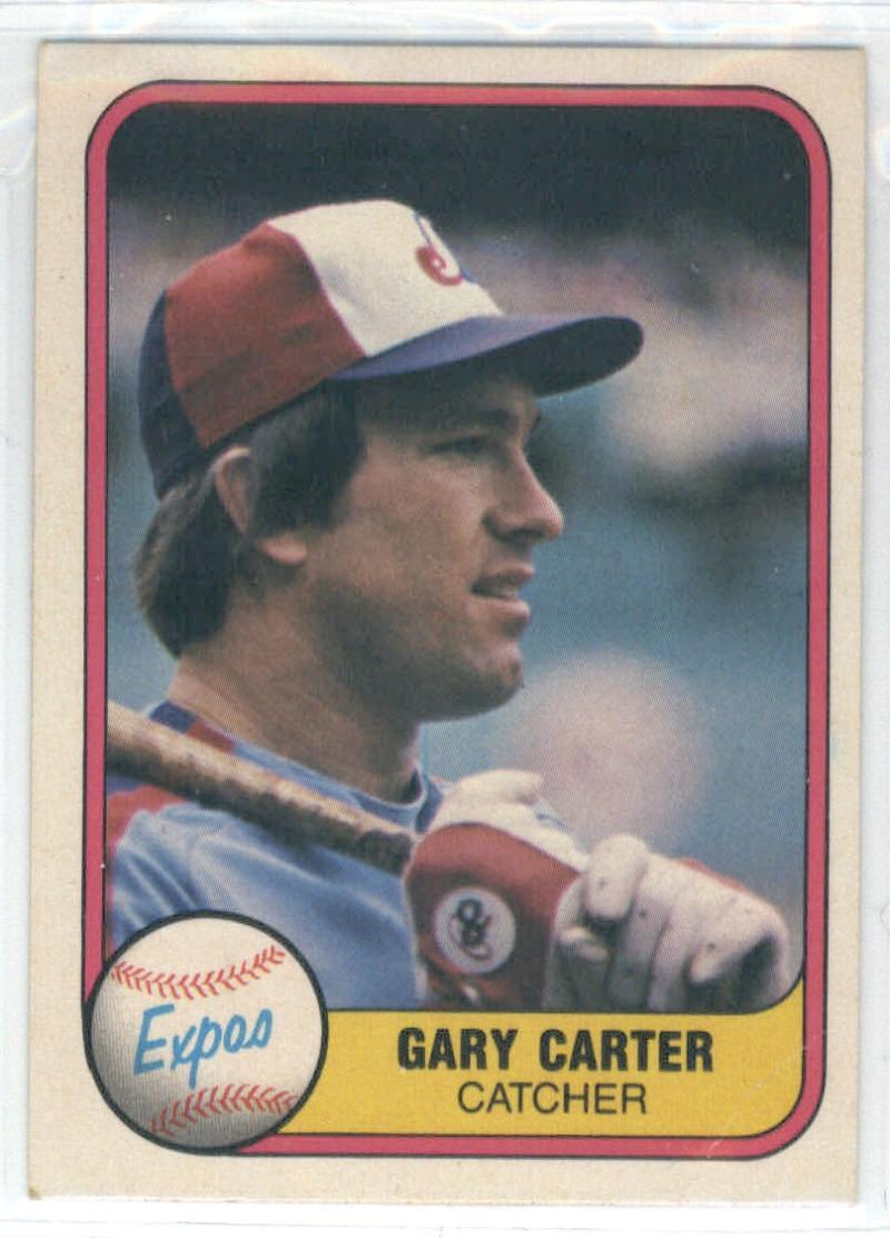 1981 Fleer #142 Gary Carter  Expos