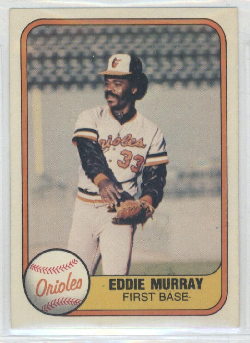 1981 Fleer #184 Eddie Murray  Orioles
