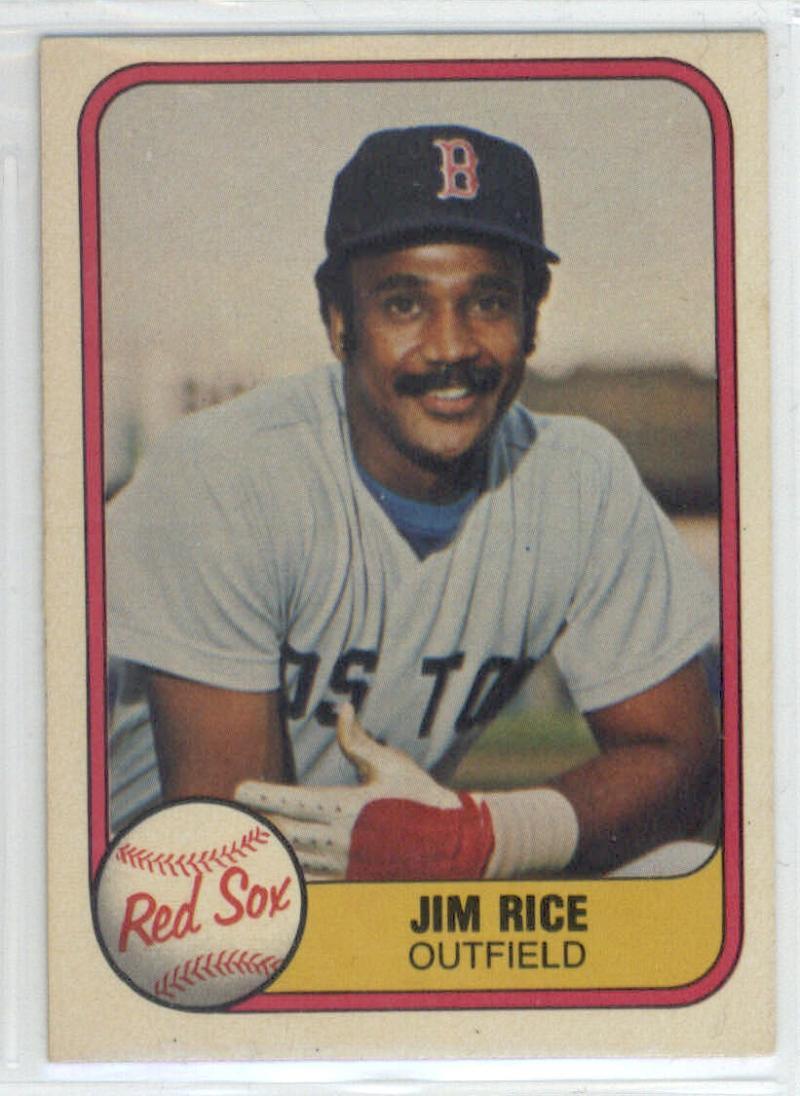1981 Fleer #222 Jim Rice  Red Sox
