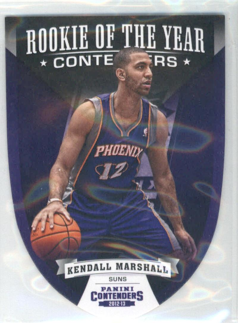 Basketball NBA 2012-13 Contenders ROY Contenders #10 Kendall Marshall  Suns