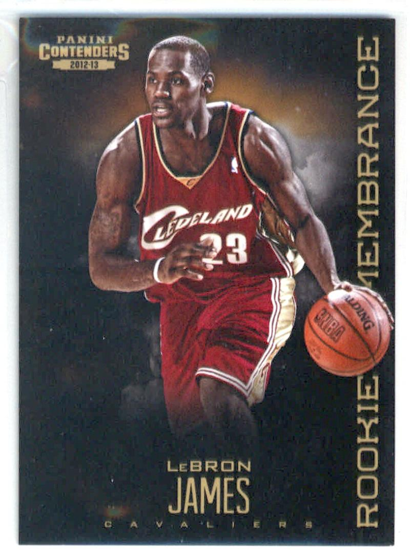 Basketball NBA 2012-13 Contenders Rookie Remembrance #8 LeBron James  Cavaliers
