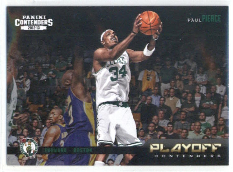 Basketball NBA 2012-13 Contenders Playoff Contenders #10 Paul Pierce  Celtics