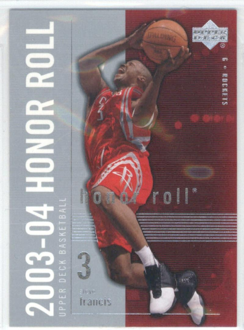Basketball NBA 2003-04 Honor Roll #28 Steve Francis