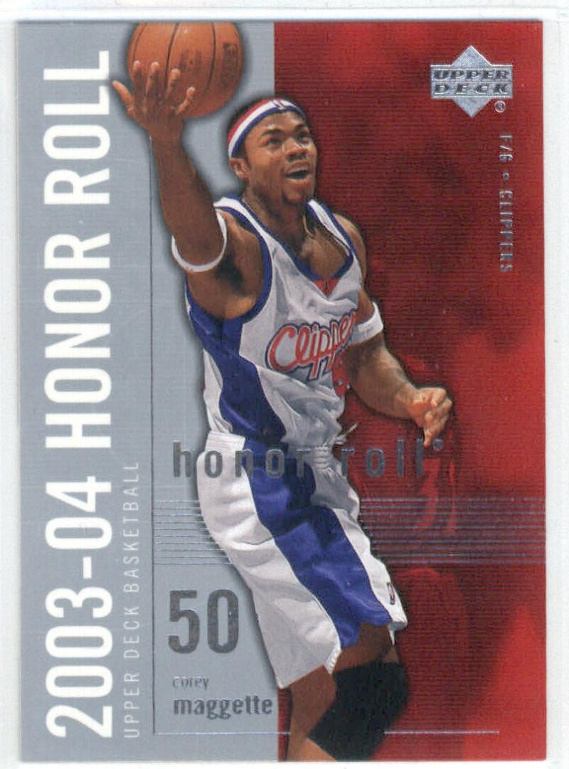 Basketball NBA 2003-04 Honor Roll #33 Corey Maggette