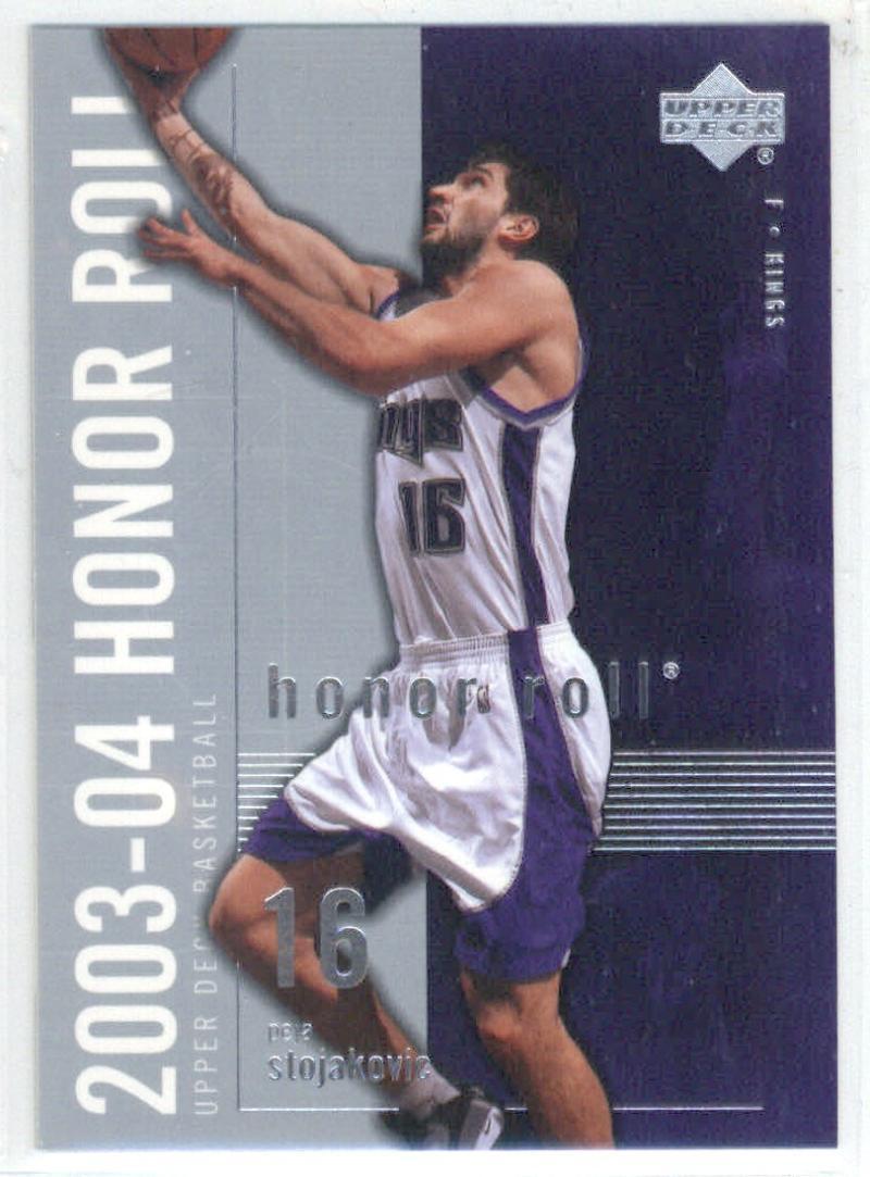 Basketball NBA 2003-04 Honor Roll #72 Peja Stojakovic  Sac Kings