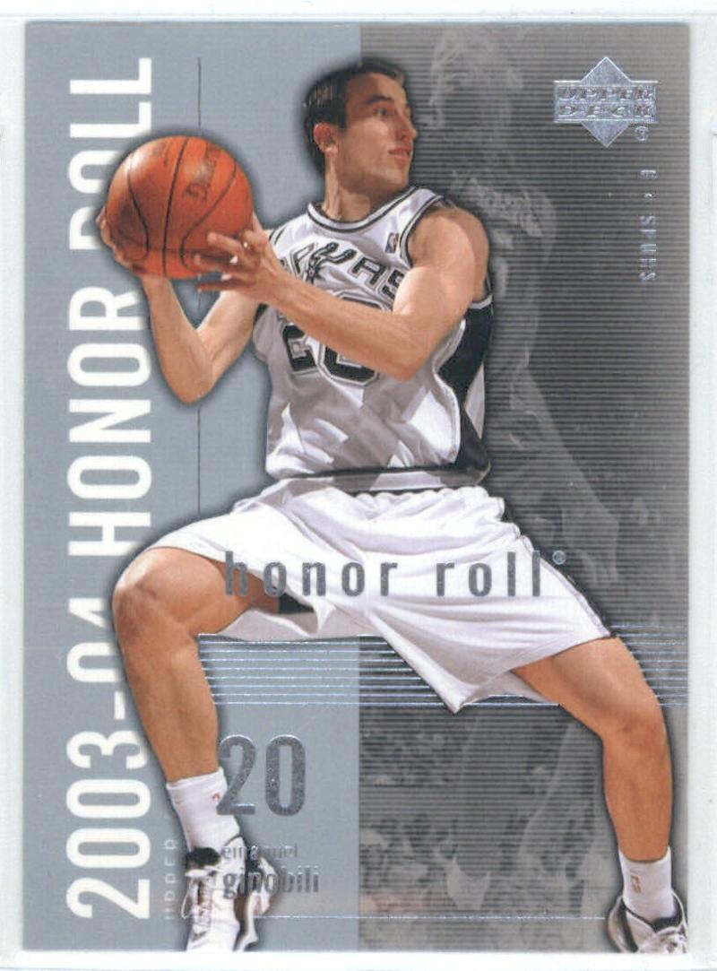Basketball NBA 2003-04 Honor Roll #78 Manu Ginobili