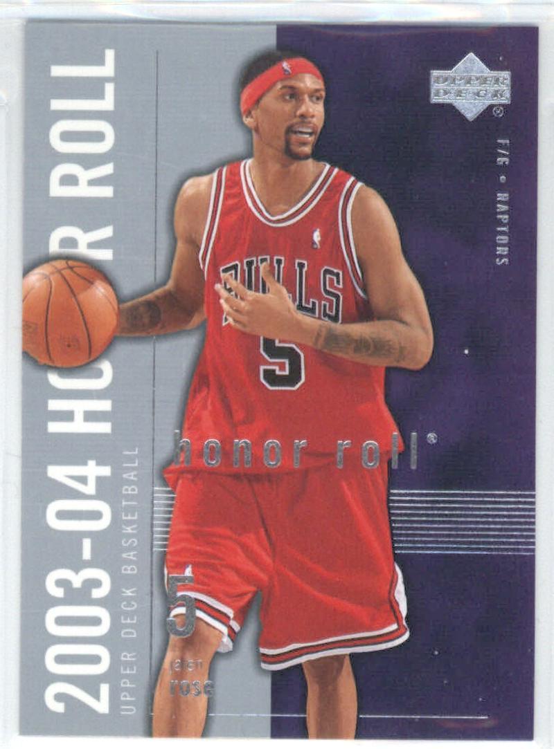 Basketball NBA 2003-04 Honor Roll #84 Jalen Rose