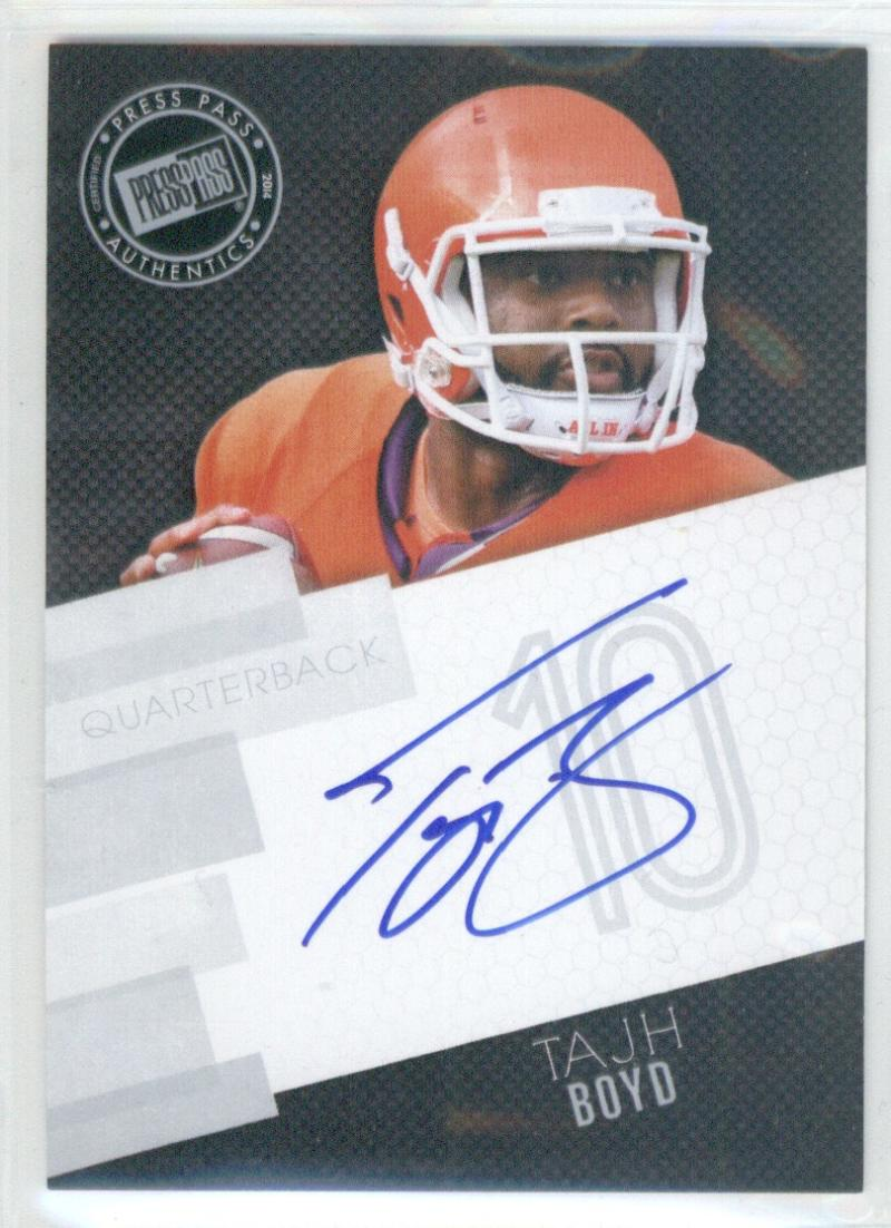 Football NFL 2014 Press Pass Autographs Silver #TBO Tajh Boyd  Autograph