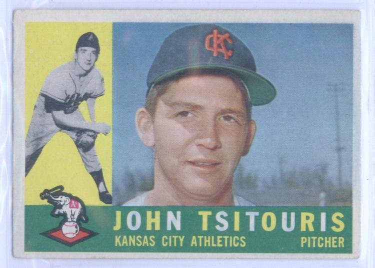 Baseball MLB 1960 Topps #497 John Tsitouris  Athletics