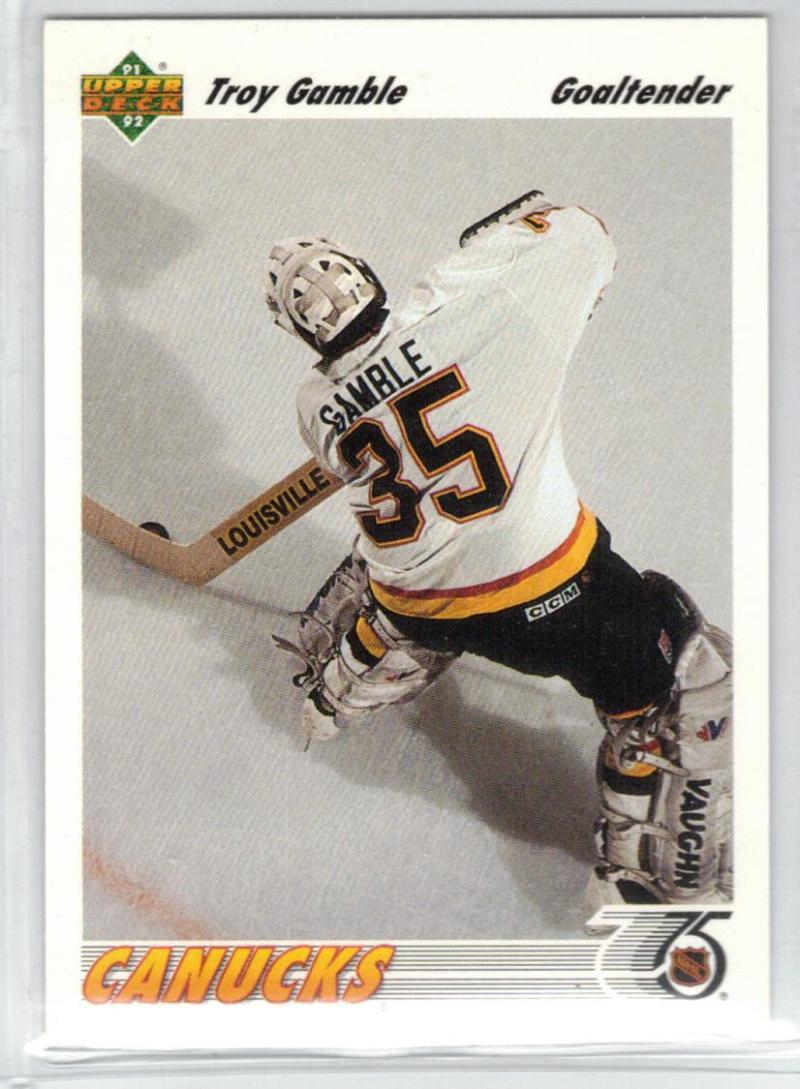 1991-92 Upper Deck #120 Troy Gamble