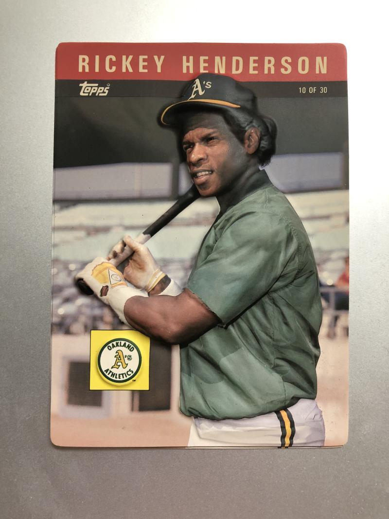 1985 Topps 3-D Baseball Stars #10 Rickey Henderson