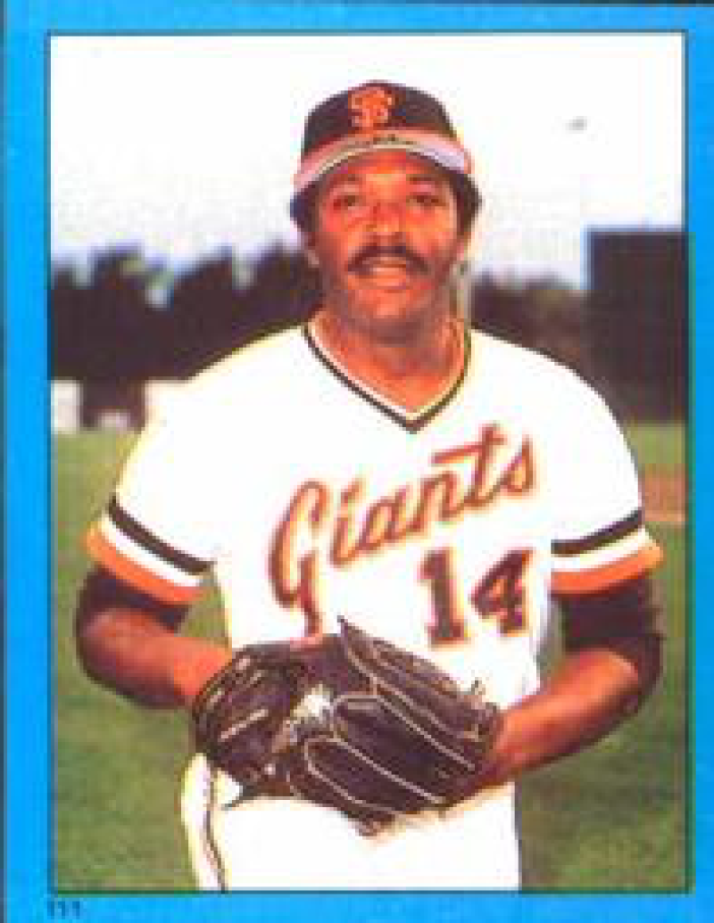 1982 Topps Stickers #111 Vida Blue NM Near Mint