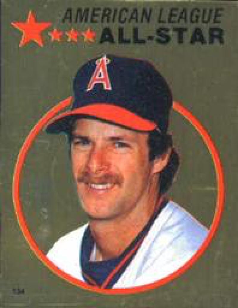 1982 Topps Stickers #134 Rick Burleson NM Near Mint