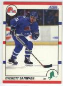 1990-91 Score #28 Everett Sanipass ROOKIE CARD Nordiques