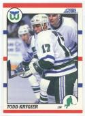 1990-91 Score #237 Todd Krygier  ROOKIE CARD Whalers