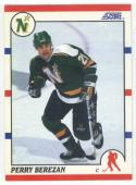 1990-91 Score #379 Perry Berezan ROOKIE CARD North Stars