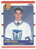 1990-91 Score #431 Mark Greig ROOKIE CARD Whalers