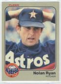 1983 Fleer #463 Nolan Ryan  Astros