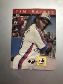 1985 Topps 3-D Baseball Stars #17 Tim Raines