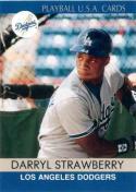 1991 Playball #4 Darryl Strawberry NM Near Mint