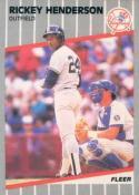 1989 Fleer #254 Rickey Henderson 3000