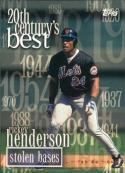 2000 Topps #234 Rickey Henderson 20 CB 3000